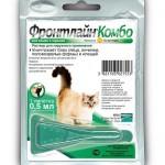 Устранение эктопаразитов у кошек: лекарства серии Фронтлайн