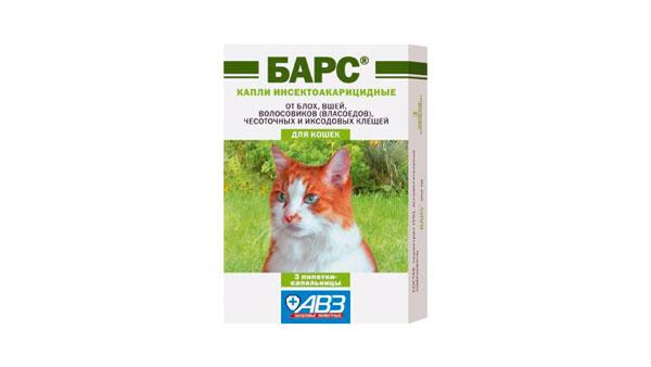 Барс: капли для кошек