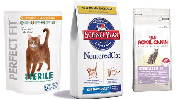 корма для кастрированных котов